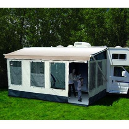 """Picture of Carefree Buena Vista Gray w/Dark Trim Enclosure For 16' 5"""" Full Size Bag & Box Awnings 225000 00-0194"""
