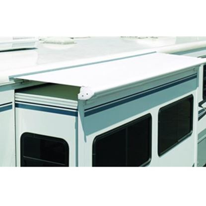 """Picture of Carefree Slideout Cover (TM) 13' 7"""" Solid White Denim Vinyl Slide Out Awning Fabric DG1630042 00-0245"""