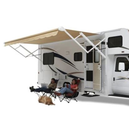 Picture of Carefree Fiesta Burgundy Vinyl 16'L X 8'Ext Adj Pitch Spring Assist Patio Awning EA166A00 00-0900