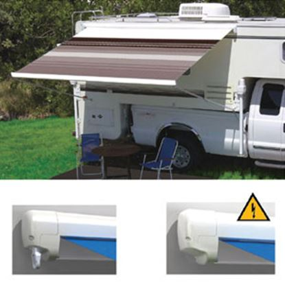 "Picture of Carefree Freedom Ocean Blue Vinyl 9' 10""L X 8'Ext Adj Pitch Manual Box Awning 351188E25 00-0966"