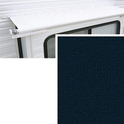 """Picture of Carefree  14' w/ 42"""" Ext Solid Black Denim Vinyl Slide Out Awning Fabric DG1686242 00-1471"""