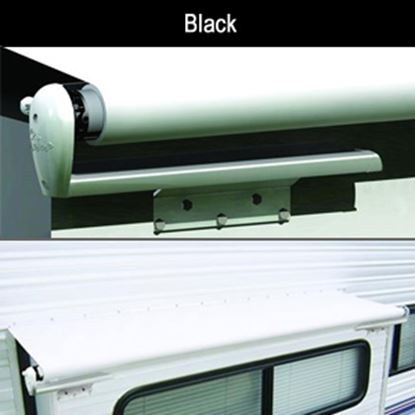 "Picture of Carefree Slideout Cover (TM) Solid Black Vinyl 122-129"" Roof X 42""Ext Power Slide-Out Awning LH1296242 00-7950"