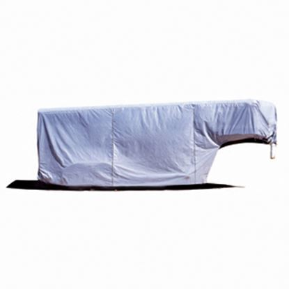 "Picture of ADCO SFS AquaShed (R) Gray Fabric/Poly Cover For 31' 7""-34' 6"" Gooseneck Horse Trailers 46014 01-0009"