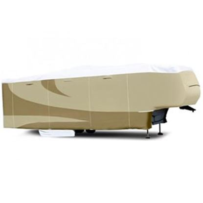 "Picture of ADCO Tyvek (R) Plus Gray Polypropylene Cover For 23' 1""-25' 6"" 5th Wheel Trailers 34852 01-0139"