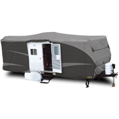 Picture of ADCO Designer SFS Aquashed (R) Gray Fabric/Poly Cover For 15'-18' Travel Trailers 52239 01-0234