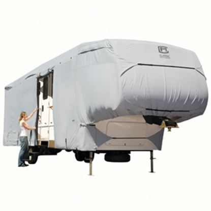 Picture of Classic Accessories PermaPRO (TM) Polyester Water Resistant RV Cover For 37-41' 5th Wheel Trailers 80-187-191001-00 01-0258
