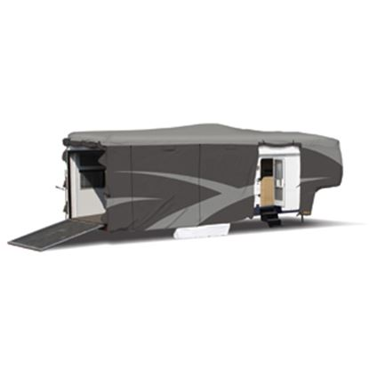 """Picture of ADCO Designer SFS Aquashed (R) Gray Fabric Cover For 28' 1""""-30' Toy Haulers 52274 01-0262"""