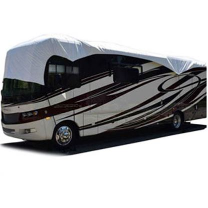 Picture of ADCO Tyvek (R) White Fabric RV Cover For 49' Class A/C/Travel Trailer/ 5th Wheel 36049 01-0387