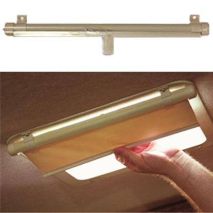 """Picture of Camco Lights Out Interior Cream Roof Cover For 14"""" X 14"""" Vents 42913 01-1019"""