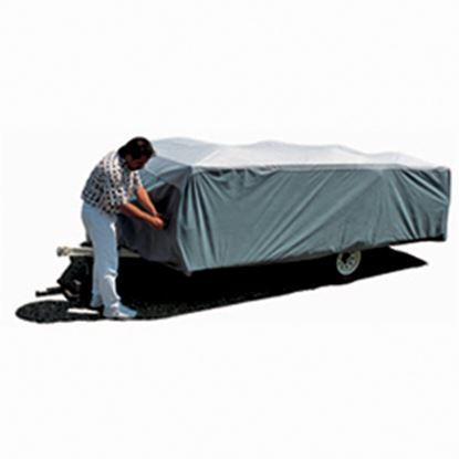 """Picture of ADCO SFS AquaShed (R) Gray Polypropylene Cover For 12' 1""""-14' Folding/Pop Up Trailers 12293 01-1140"""