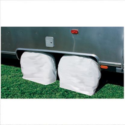 "Picture of Camco  1-Pair Arctic White 40-42"" Tire Covers 45326 01-1399"