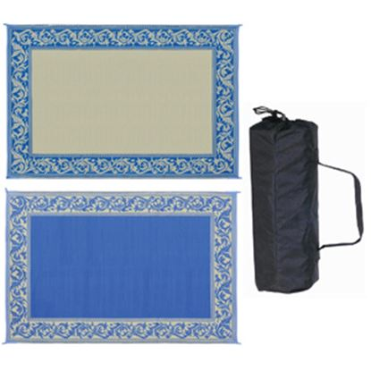 Picture of Ming's Mark  6' x 9' Blue/Beige Reversible Camping Mat RD3 01-4209