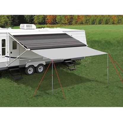 """Picture of Carefree Awning Extend'R 16' L x 98"""" Ext Gray Polyester Awning Extension Panel UU1608 01-4655"""