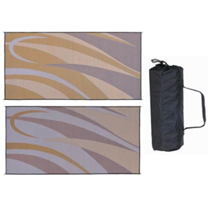 Picture of Ming's Mark  8' x 16' Brown/Gold Reversible Camping Mat GB7 01-4996