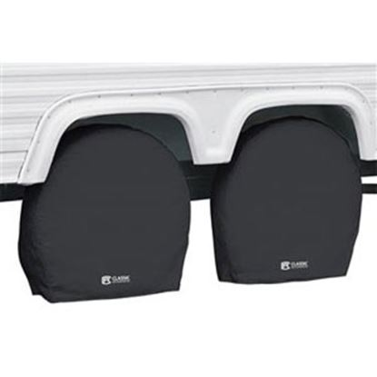 """Picture of Classic Accessories  1-Pack Black 36"""" to 39"""" Diam Single Tire Cover 80-240-180402-00 01-7312"""