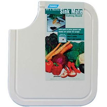 "Picture of Camco  White 12-1/2""L x 14-1/2""W Plastic Cutting Board 43857 03-0451"