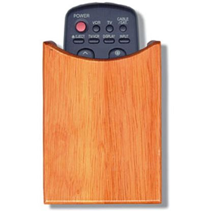 Picture of Camco Oak Accents (TM) Hardwood Screw-In Mount Remote Control Holder 43533 03-0561