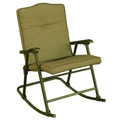 Picture of Prime Products La Jolla Desert Taupe Plus Folding Rocker Chair 13-6605 03-0802