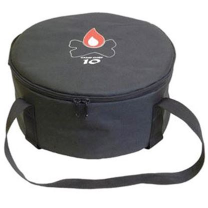 "Picture of Camp Chef  13-1/2""D x 7-1/4""H Black Polyester Campfire Cookware Storage Bag CBDO12 03-0823"