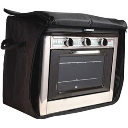 """Picture of Camp Chef  13-1/2""""L x 21-1/2""""W x 18-1/2""""H Black Polyester Campfire Cookware Storage Bag CBOVEN 03-0841"""