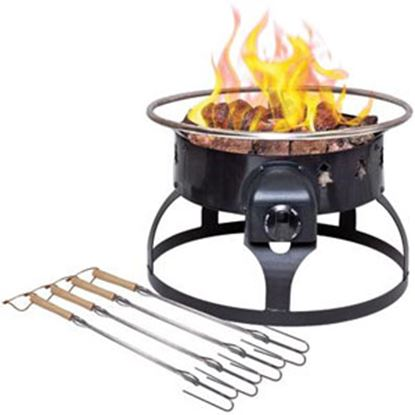 "Picture of Camp Chef  Steel 19"" Round LP With Ceramic Logs Fire Pit GCLOGD 03-0866"