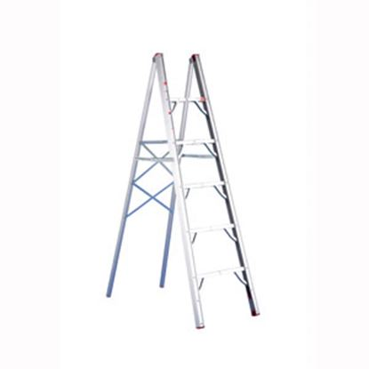Picture of GP Logistics  5' Clear Anodized Aluminum Folding Step Ladder SLD-S5 03-1025