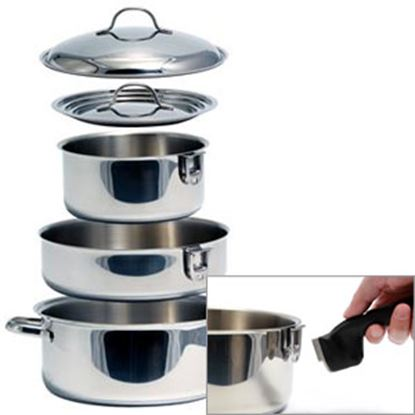 Picture of Camco  Stainless Steel w/ Aluminum Core Cookware Set 43920 03-1958