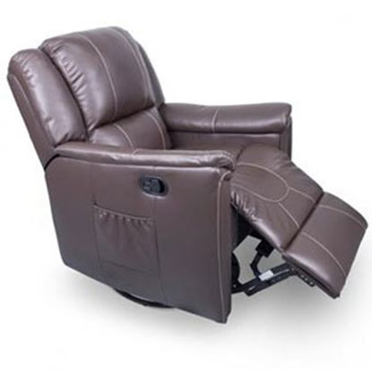 Picture of Lippert Thomas Payne Collection Majestic Chocolate PolyHyde (TM) Swivel Glider/Recliner 377710 03-2066