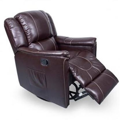 Picture of Lippert Thomas Payne Collection Jaleco Chocolate PolyHyde (TM) Swivel Glider/Recliner 380401 03-2073