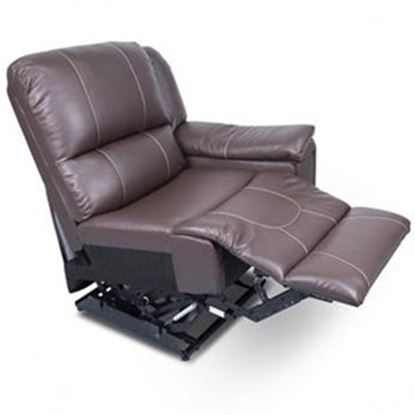 Picture of Lippert Thomas Payne Collection Majestic Chocolate PolyHyde (TM) Left Side Pushback Recliner 386637 03-2075