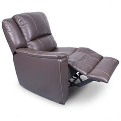 Picture of Lippert Thomas Payne Collection Majestic Chocolate PolyHyde (TM) Right Side Pushback Recliner 386638 03-2076