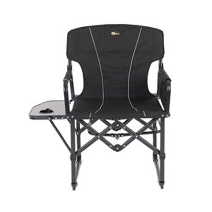 Picture of Faulkner  Black Folding Directors Chair w/ Side Tray & Bag 52284 03-2139