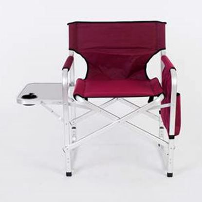 Picture of Faulkner  Burgundy Folding Directors Chair w/ Side Tray & Bag 52283 03-2143