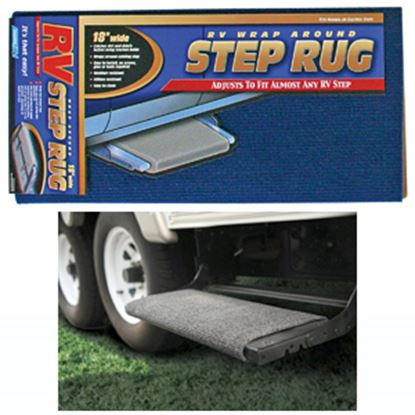 "Picture of Camco  18"" Wide Blue Wrap-Around Step Rug 42924 04-0282"