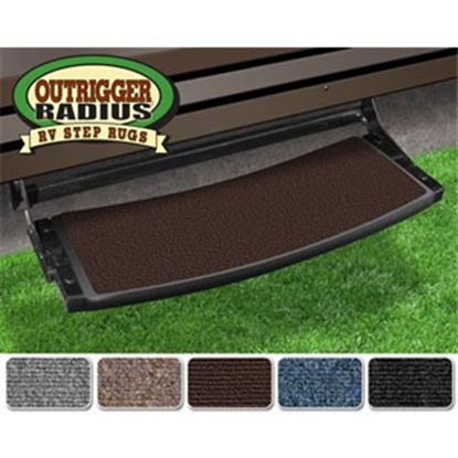"Picture of Prest-o-Fit Outrigger (R) Chocolate Brown 22"" Radius Entry Step Rug 20375 04-0290"