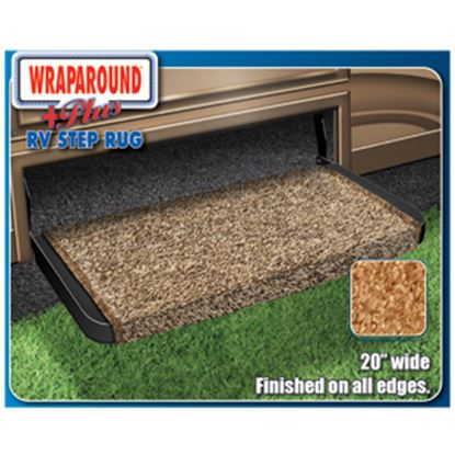 """Picture of Prest-o-Fit Wraparound (R) Plus Brown 20"""" Entry Step Rug 2-0071 04-0411"""