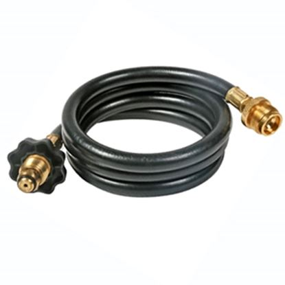"Picture of Camco Olympian Grill Male POL x 1""-20 Throwaway Cylinder Thread 12'L LP Grille Hose 59833 06-0467"