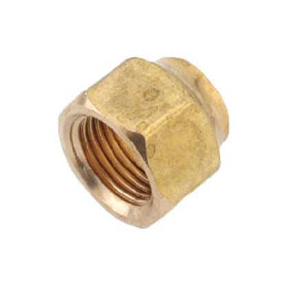 "Picture of Anderson Metal LF 7110 Series 1/4"" MPT x 1/8"" FPT Brass Fresh Water Straight Fitting 706110-0402 06-1313"