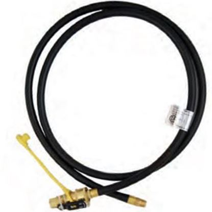 """Picture of Marshall Excelsior  1/4"""" MNPT X QD 1/4"""" FNPT w/ Cap X 144""""L LP Feed Hose MER14TCQD-144P 06-3880"""