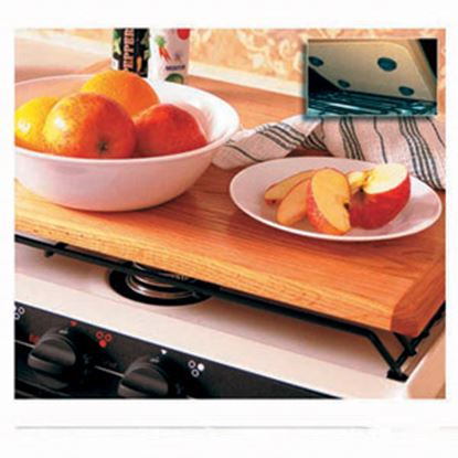 Picture of Camco Oak Accents (TM) Oak Hardwood Stove Top Cover 43521 07-0317