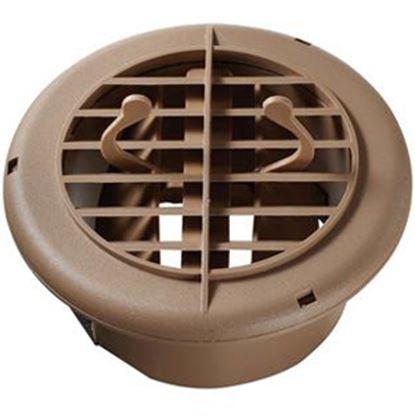 "Picture of RV Designer  Beige 5"" Round 360 Deg Rotation Heating/ Cooling Register w/ Damper H810 08-0025"
