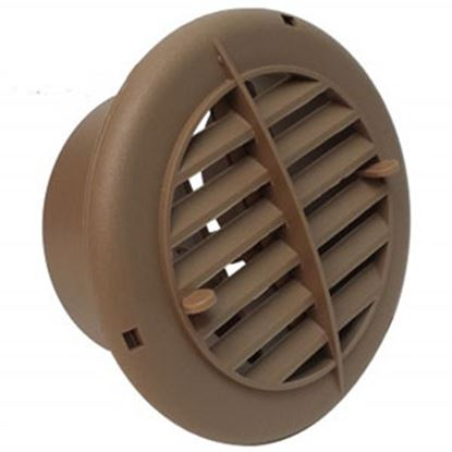 "Picture of Valterra  Beige 4"" Round Furnace Vent w/ Louvers A10-3351VP 08-0065"