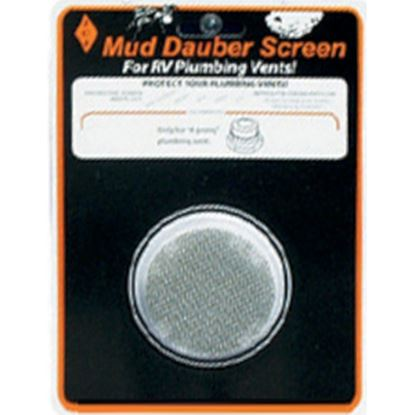 Picture of JCJ Enterprises Mud Dauber Screen Round SS Bug Screen For All 4-Prong Model Plumbing Vents PV-400 08-0255