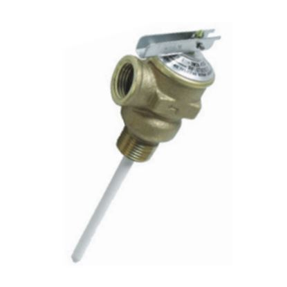 """Picture of Camco  1/2"""" 150 PSI Pressure Relief Valve w/ 4"""" Probe 10423 09-0200"""