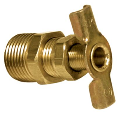 "Picture of Camco  3/8"" NPT Thread Brass Water Heater Drain Valve 11683 09-0267"