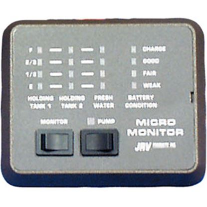 Picture of JRV Products  Black Semi-Recessed Mount Tank Monitor System Panel A7748RBL 10-0054