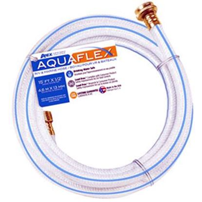 """Picture of Apex AQUAFLEX (R) 1/2""""x15' Fresh Water Hose w/ ThumThing Coupling 7503-15 10-0081"""