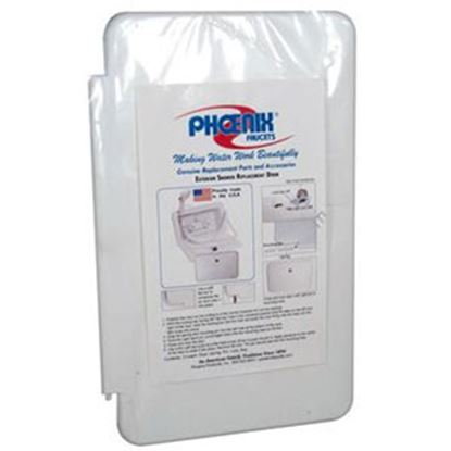 Picture of Phoenix Faucets  White Exterior Shower Box Door For Phoenix #377 PF267001 10-0152