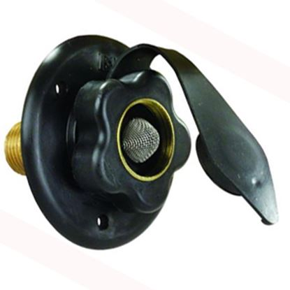 Picture of JR Products  Black Flange Fresh Water Inlet w/Check Valve 160-85-A-36-A 10-0526