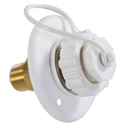 Picture of Aqua Pro  Polar White Plastic Surface Mount Flange Fresh Water Inlet 27893 10-0693